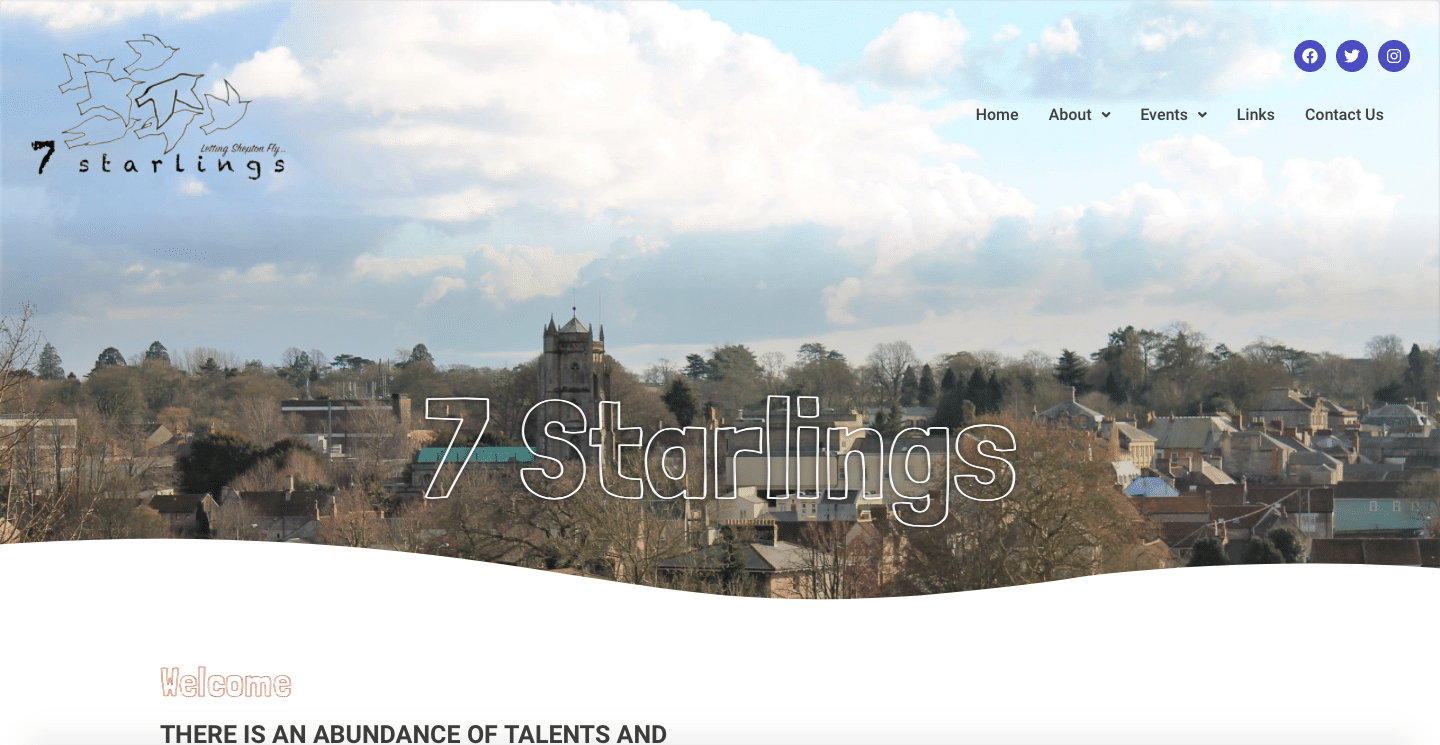 7 Starlings Website Home Page